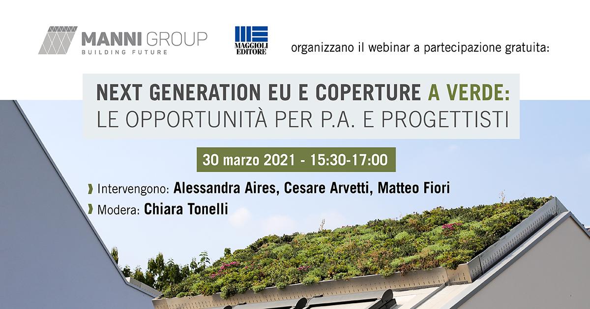 Next Generation EU e coperture a verde: le opportunità per P.A. e Progettisti
